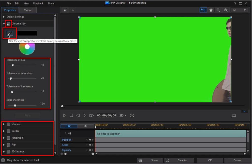 How to Green Screen in Cyberlink PowerDirector (Chroma Key