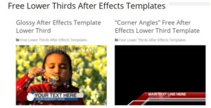 Top 5 Sites to Download Free Lower Third Templates | Make a